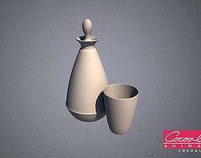 3D model Bathroom Flasks 01