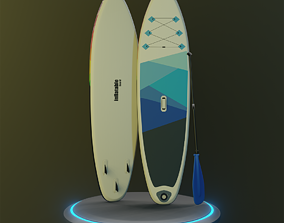 Inflatable Stand-up Paddle Board 3D asset