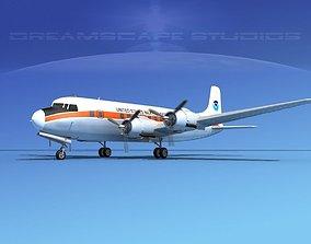 3D Douglas DC-6 US Weather Bureau