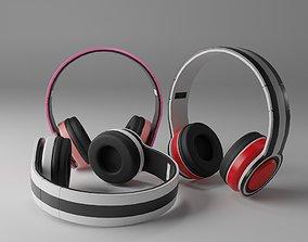 music headphones 3D model
