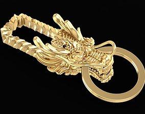 Gold Dragon Key Chain 01 3D printable model