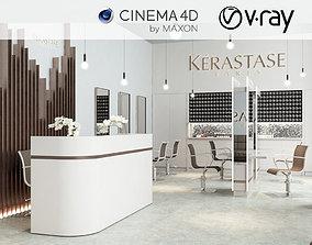 3D model VRay - C4D Scene files - Salon Scene