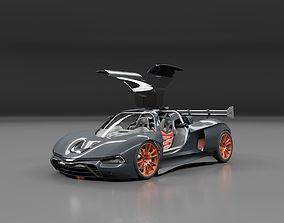 3D mustanger super sports racing car concept design
