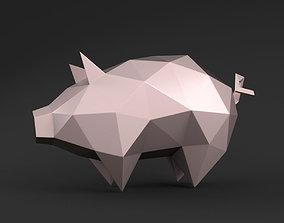 3D printable model Pig triangular
