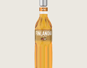 Finlandia Original Classic Spices Bottle Vodka Of 3D asset