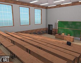 3D model University Classroom - lecture hall