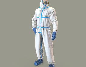 3D model Hazmat suit rigged