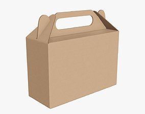 3D Gable box cardboard food packing 06
