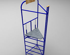 3D asset Judge sport stand referee low poly