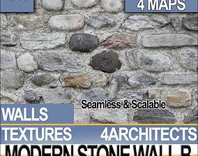 3D model Modern Stone Wall B