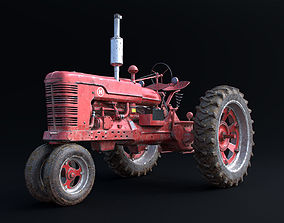 Old Tractor Model All-inclusive rigged