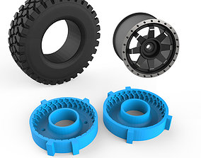 Rough Terrain Tire Mold 3D printable model