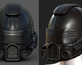 game-ready PBR Helmet scifi military combat 3d