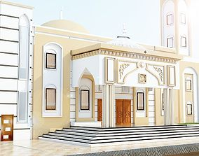 Classical two story mosque in libya arab style 3D