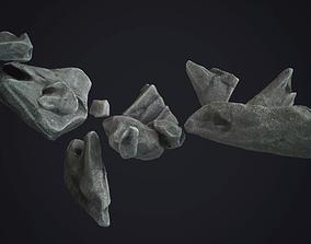 game-ready PBR Rock Pack 3D model Rocks Gamerady VR