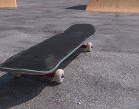 3D model Scratched Skateboard