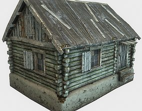 hut Old Wooden House 3D model realtime