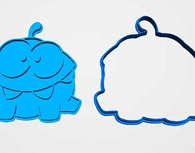 3D printable model cookie cutter Cut The Rope om nom set 2