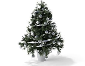 Christmas Tree With White Toys 3D model