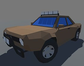 3D model Muscle Car Trophy Truck MOBILE READY