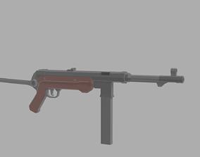 Low Poly MP-40 3D asset