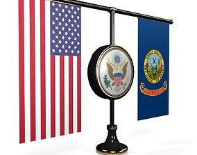 Flag-USA-Sovereign ALL 50 States 3D asset