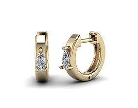 Jewelry Earrings 4x2 Pear 3D printable model