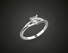 4 prong engagement ring promise ring 3D printable model