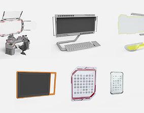 3D model sci fi computer