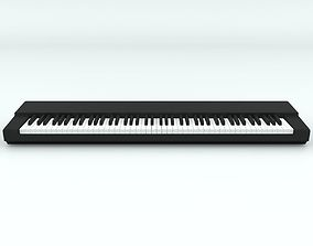 3D model 88 Key-Piano Keyboard Base