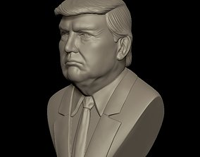 Bust of Donald Trump High Poly 3D print model