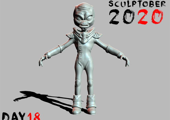 Sculptober Day 18 Destroy