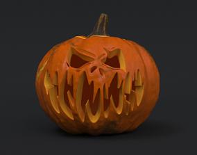3D Halloween Pumpkin - Jack-O-Lantern
