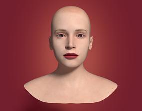 Woman Head 3D asset