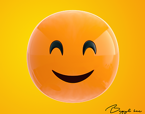 3D asset Emoji Happy