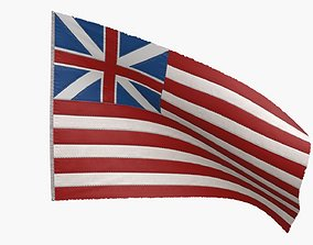British East India Company Flag 1707-1801 3D asset