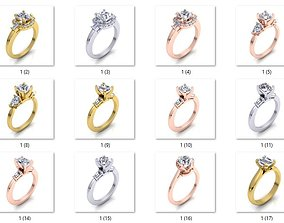 precious 3D printable model 108 Fancy Solitaire Ring