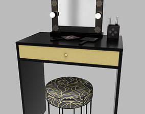 3D asset Make up mirror and set