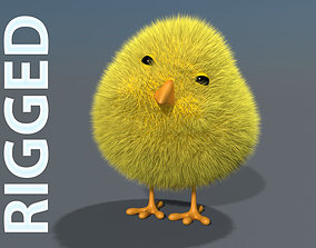 3D Chick - rigged rigged