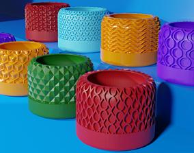 3D print model Succulents planters - 22 pieces set