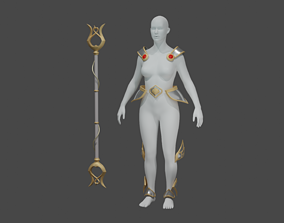 lux wild rift cosplay armor staff 3D printable model