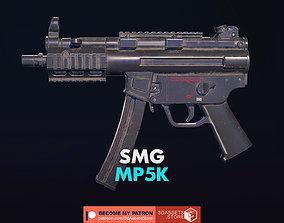 Weapon - Gun - SMG - MP5K 3D asset