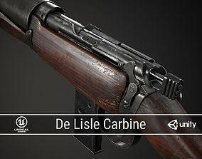 PBR De Lisle Carbine 3D asset low-poly