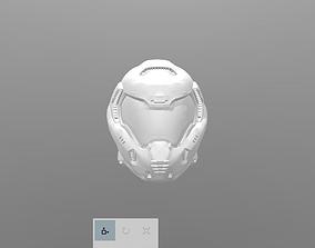 3D print model DOOM helmet