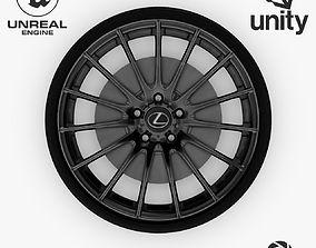 3D model Wheel Steel-Chrome Dark Alloy Rim Lexus 19 inch 2