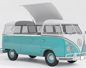 Volkswagen Combi Food truck 3D
