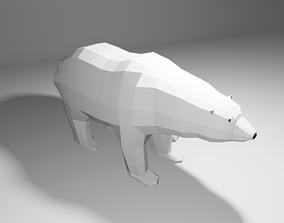 3D model Polar Bear Low Poly