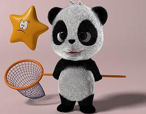 3D asset Cartoon panda RIGGED