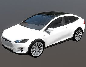 3D asset Electric SUV Tesla Model X Car