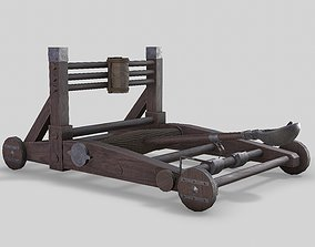MEDIEVAL Catapult 3D asset animated